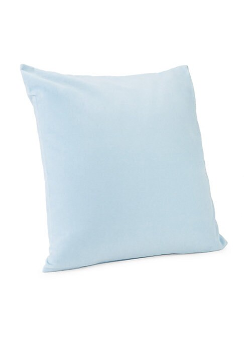 """Image of Crafted in cotton velvet, the effortlessly minimal Calvin Klein Lucerne Pillow adds a touch of modern luxury to your bed. Available in 6 colorways.510 thread count.18""""W x 18""""L.Cotton. Dry clean. Imported."""