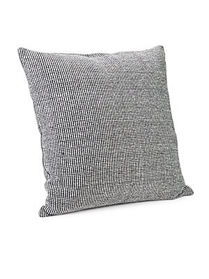 "Image of Woven in 100% cotton, the effortlessly minimal Calvin Klein Structure Pillow adds a touch of modern luxury to your bed. Available in 2 colorways. 501 thread count 22""W x 22""H Cotton Machine wash Imported. Gifts - Bed And Bath. Calvin Klein. Color: Black W"