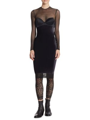 Image of Mesh Bustier Dress