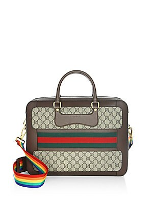 d25421d27a4 Gucci - GG Supreme Briefcase with Web - saks.com