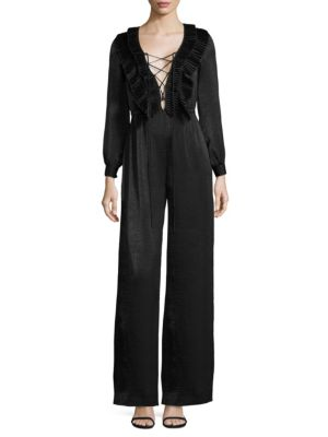 Bonnie Lace-Up Jumpsuit by Delfi Collective