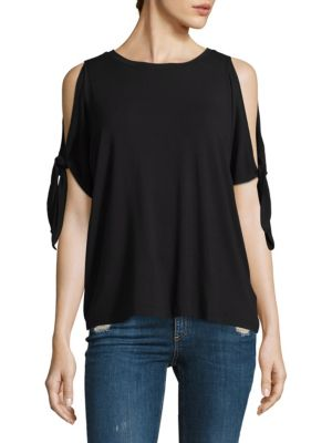 Syringa Cold Shoulder Tie Top by Rebecca Minkoff