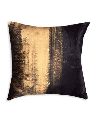 """Image of Acid wash hairon pillow with down feather fill.20""""W x 20""""H.Polyester. Fill: Down feathers. Dry clean. Imported."""