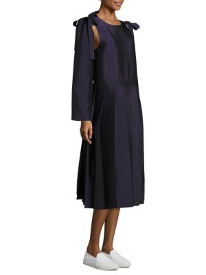 Sara Lanzi Pleated A-line Dress