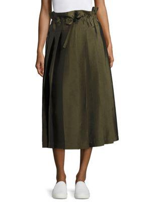Sara Lanzi Pleated Wool Skirt