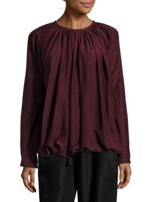 Silk Gathered Top by Sara Lanzi