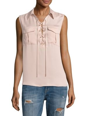 The Sleeveless Safari Top by L'acadamie