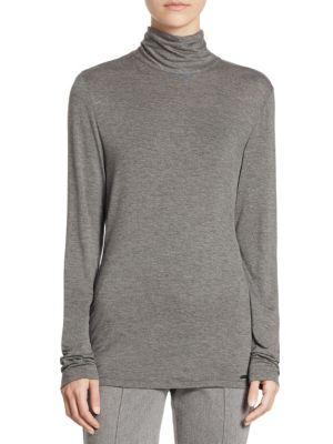 Long Sleeve Mockneck Pullover by St. John