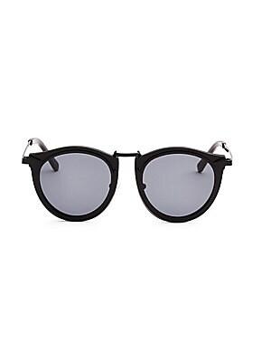 51ddb3e85c00 Karen Walker - Super Luna 53MM Round Sunglasses - saks.com