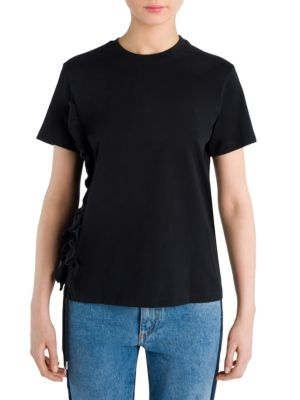 Short Sleeves Cotton Tee by MSGM