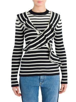 X Striped Knit Top by MSGM