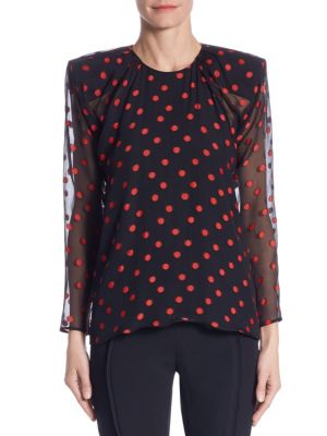 Silk Polka Dot Top by Carmen March