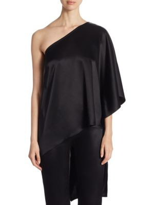 One Shoulder Top by St. John
