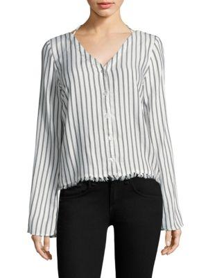 Stripe V-back Pullover Top by Bella Dahl