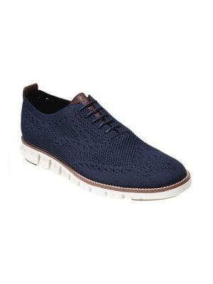 COLE HAAN Men'S Original Grand Stitchlite Wingtip Oxfords Men'S Shoes in Blue