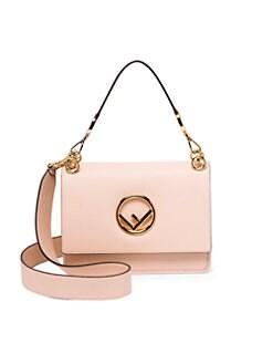 1b7fe8e43979 Fendi. Kan I Logo Leather Shoulder Bag