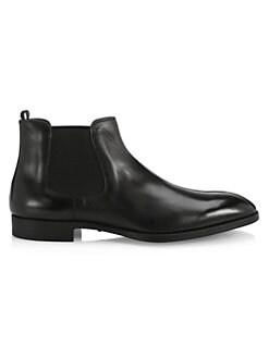 21637e3854 Giorgio Armani - Leather Chelsea Boots