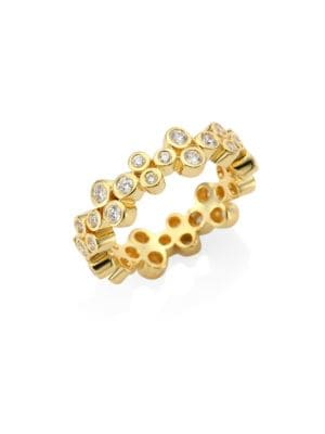 TEMPLE ST. CLAIR Trio Eternity Diamond Ring in Yellow Gold