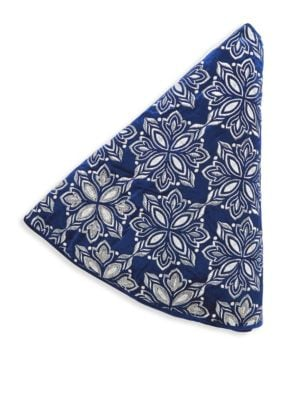 """Image of Embroidery and crystal beads elevate this stocking. Diameter, 56"""".Rayon velvet. Spot clean. Imported."""