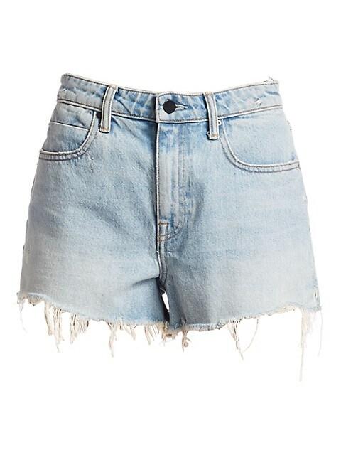 Bite High-Rise Frayed Denim Shorts