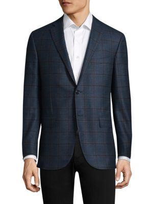 Patterned Wool Sportcoat by Corneliani