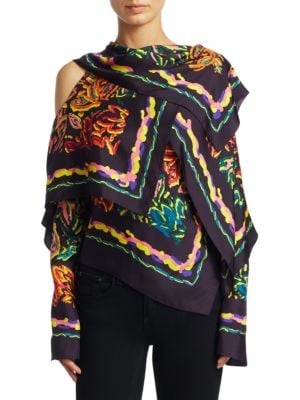 Silk Twill Scarf Blouse by Peter Pilotto