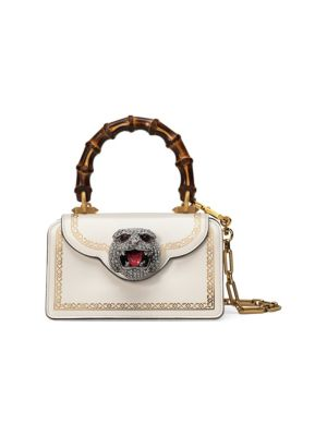 Mini Thiara Top Handle Leather Satchel - White, Mystic White