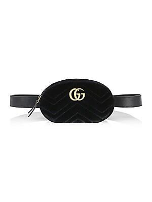 0a577c8477de6e Gucci - GG Marmont Matelassé Velvet Belt Bag - saks.com