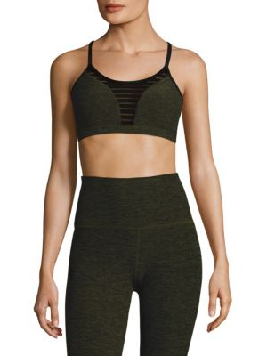 Stacked and Sliced Racerback Bra by Beyond Yoga