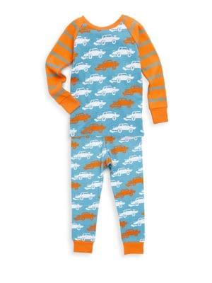 Little Boys  Boys TwoPiece Derby Cars Cotton Pajama Set