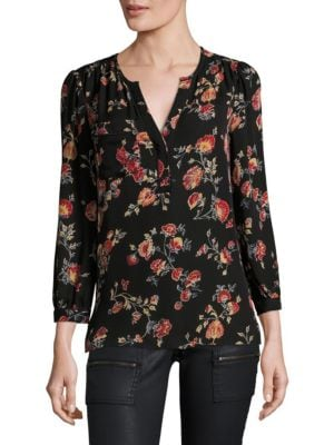 Brittin Silk Floral Blouse by Joie