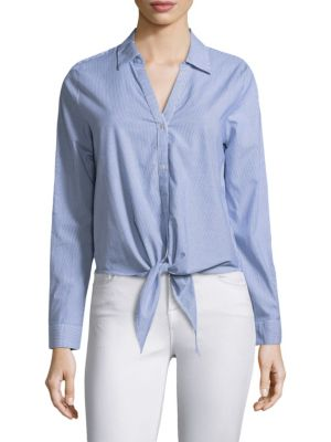 Crysta Tie-Front Top by Joie