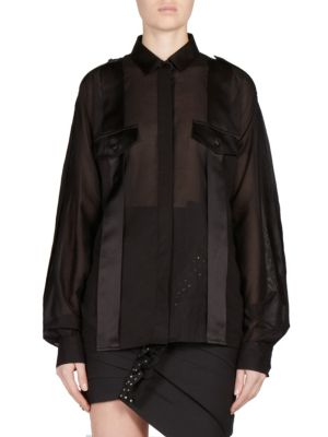 Cotton Pocket Blouse by Saint Laurent