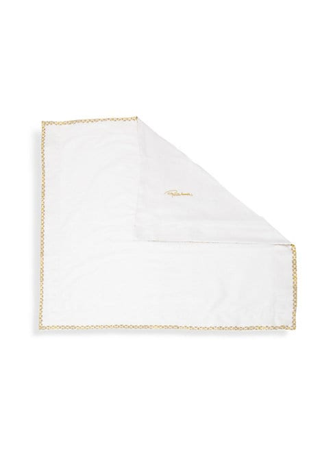 """Image of Cotton sateen standard sham featuring printed edges.300 thread count.20""""W x 32""""H.Cotton sateen. Machine wash. Made in Italy."""
