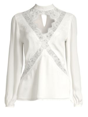 Skylar Cutout Silk Blouse by Cami NYC