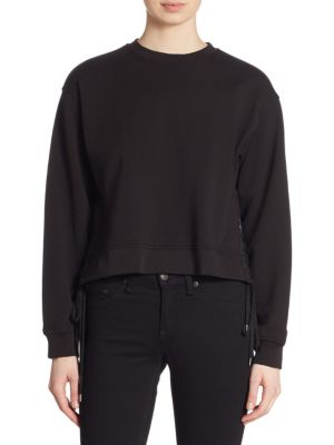 Lace-Up Cotton Sweatshirt by McQ Alexander McQueen