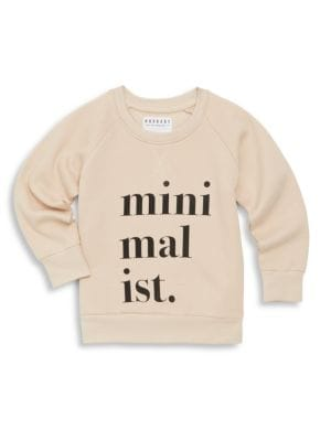 Babys Toddlers  Little Girls Minimalist Cotton Sweatshirt