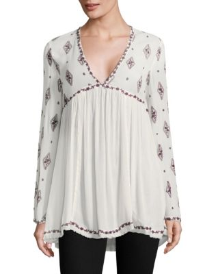 Diamond Embroidered Tunic by Free People