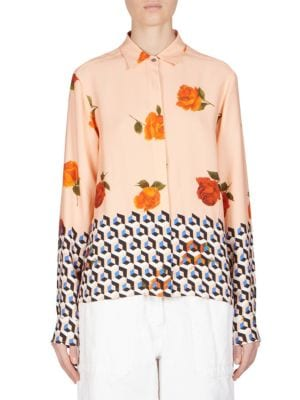 Floral-Print Shirt by Dries Van Noten