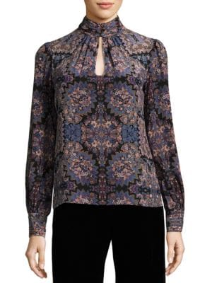 Mod Printed Silk Top by Nanette Lepore