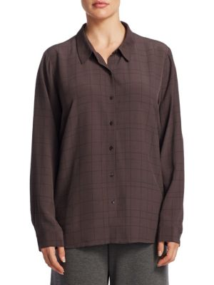 Classic Collar Button-Down Shirt by Eileen Fisher, Plus Size