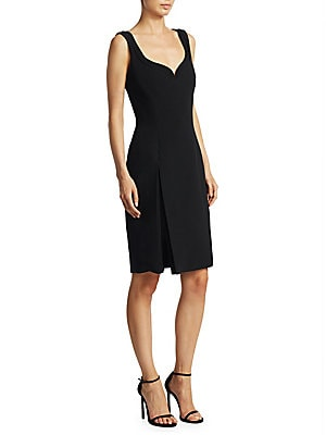 """Image of Accented dress with front slit detail Sweetheart neckline Sleeveless Concealed back zip About 37"""" from shoulder to hem Viscose/acetate Dry clean Made in Italy Model shown is 5'10"""" (177cm) wearing US size 4. Designer Lifest - Designer Atrium Collect. Brand"""