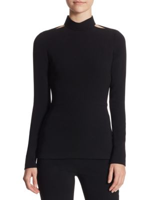 Mockneck Cutout Top by Brandon Maxwell
