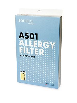 Image of Decreases the susceptibility to allergies of your family, Filters out dust, pollen, hair, allergens, microorganisms, mites, bacteria, germs, insecticide, harmful gases, unpleasant odors, for use with the BONECO P500 Air Purifier. Reduces 99% of allergens