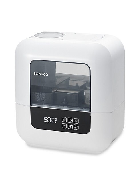 Image of New innovative Cleaning Mode allows for easy cleaning of the unit, Easy-to-handle water tank, Smart automatic shut-off when water tank is removed, Optional cool or warm mist, Relaxing ambient LED night light and includes essential water maintenance access