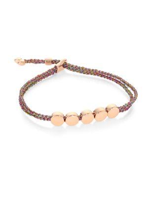 MONICA VINADER Rp Linear Bead Friendship Bracelet - Rose Gold Metallica in Harrods