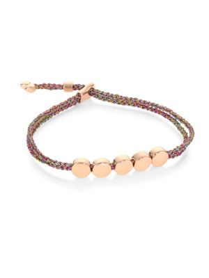 Linear Bead Friendship Bracelet/Rainbow by Monica Vinader