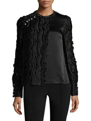 Chevron Fringe Top by Yigal Azrouel