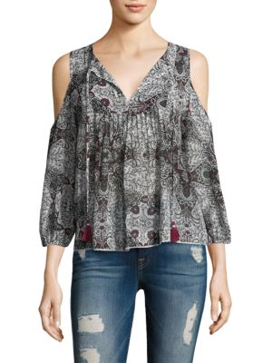 Cappy Cold-Shoulder Top by Rebecca Minkoff