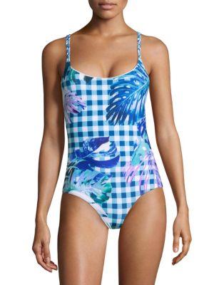 6 SHORE ROAD Pool Crush Swimsuit in Blue